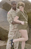 Military Couple Royalty Free Stock Image