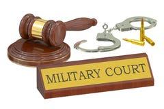 Military court concept Stock Photos