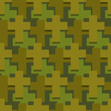 Military cross seamless pattern. Army abstract religious texture Royalty Free Stock Images