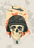 Military design with skull. Royalty Free Stock Images