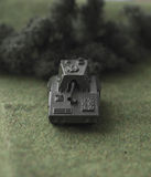 Military diorama. Shallow depth of field picture with a toy tank Royalty Free Stock Images