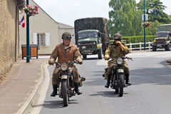 Military dispatch riders Royalty Free Stock Photos