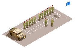 Free Military Division Service Isometric Composition Royalty Free Stock Image - 211628486