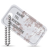 Military Dog Tag Stock Image