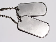 Military dog tags Stock Images