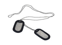 Military Dog Tags Stock Photo