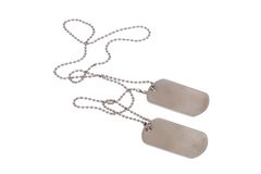 Military dog tags Royalty Free Stock Photography