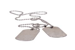 Military dog tags Royalty Free Stock Image