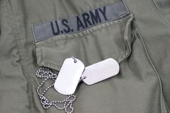 Military dog tags Royalty Free Stock Photos