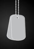 Military dog tags Stock Photos