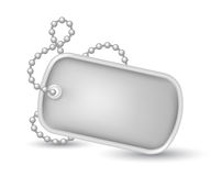 Military dog tags illustration Royalty Free Stock Photo