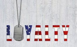 Military dog tags for loyalty Stock Images