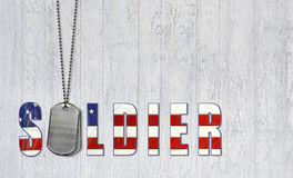 Military dog tags for soldier Stock Image