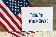 Military dog tags with thank you sign
