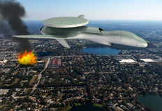 Military Drone Strike Electronic Warfare Royalty Free Stock Photo