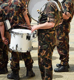 Military drummer Stock Image