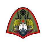 Military emblem. Paintball logo. Army sign. Skull in protective Royalty Free Stock Photos