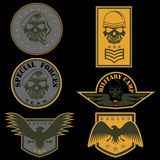 Military emblem set vector design template Stock Image