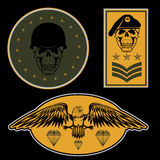 Military emblem set vector design template Royalty Free Stock Images