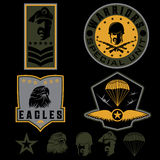 Military emblem set vector design template Stock Images
