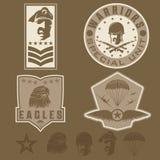 Military emblem set vector design template Royalty Free Stock Photos
