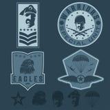Military emblem set vector design template Royalty Free Stock Image