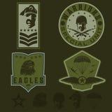 Military emblem set vector design template Stock Images