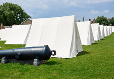 Military encampment Royalty Free Stock Images
