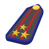 Military epaulets cartoon icon Royalty Free Stock Images