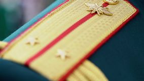 Military epaulets for soldiers. Military epaulets for russian soldiers stock footage