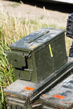 Military equipment. Box military - any military equipment Stock Photos