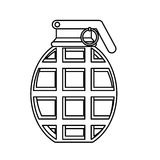 Military equipment figure grenade icon image. Figure grenade military equipment icon image  illustration Royalty Free Stock Photo