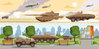 Free Military Equipment Horizontal Banners Royalty Free Stock Photography - 89843597