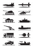 Military equipment icon set Royalty Free Stock Image