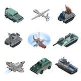 Military Equipment Isometric Stock Photo