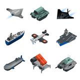Military Equipment Isometric Set Royalty Free Stock Image
