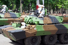 Military equipment at a military parade stock image
