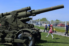 When the military equipment at the Museum, it does not shoot Royalty Free Stock Photo