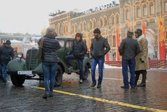 Military equipment on the Red Square in Moscow Royalty Free Stock Photos
