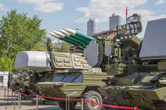 Military equipment the VDNKh royalty free stock image