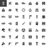 Military equipment vector icons set Royalty Free Stock Image