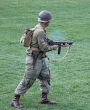 World War 2 reenactment  Royalty Free Stock Image