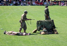 Military performing  war time re-enactments Stock Photography