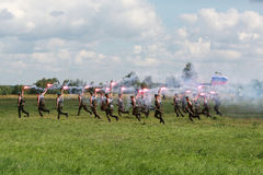 Military exercises of the Russian army in Ivanovo Stock Photography