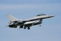 Military F-16 jetfighter Stock Photos