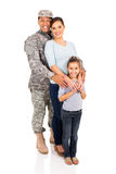 Military family standing line Stock Image