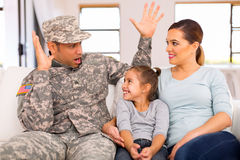 Military family together Stock Photo