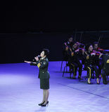 Military famous singer Dong Wenhua-theFamous and classicconcert Royalty Free Stock Photo