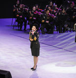 Military famous singer Dong Wenhua-theFamous and classicconcert Stock Photography