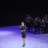 Military famous singer Liu Xiaona-theFamous and classicconcert Stock Images